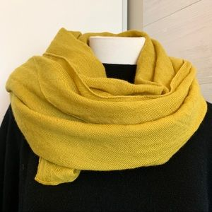 Accessories - Large/Long Mustard 100% Wool Scarf
